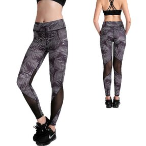 Női sportos elasztikus leggings Black Jungle