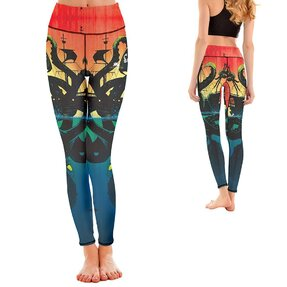 Női sportos elasztikus leggings Sea Monster