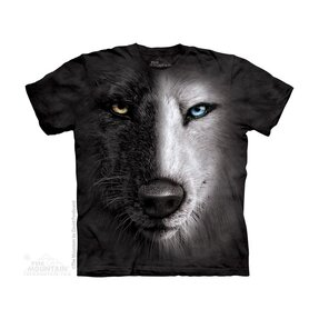 Black & White Wolf Face Child